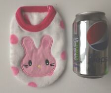 Chihuahua Tea Cup XS 6 Size Puppy Pink Bunny Cosy Fleece top Pet Dog Clothes