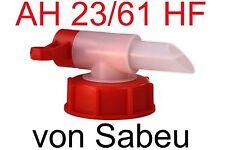 Dosierhahn Auslaufhahn Ablasshahn AH 23/61 hf Rot DIN 61 Gewinde DIN 61 Kanister