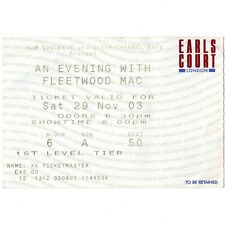 FLEETWOOD MAC Concert Ticket Stub LONDON 11/29/03 EARLS COURT SAY YOU WILL Rare