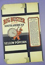Original c1920's Unused Big Buster Popcorn Box