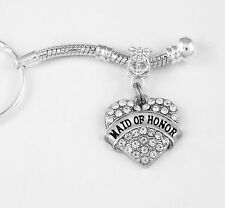 Maid of honor key chain Maid of honor jewelry Maid of honor gift Wedding jewelry