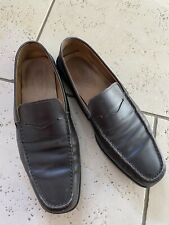 MEN'S CLASSIC TOD'S BROWN LEATHER LOAFERS SIZE 9.5uk