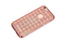 ROSE GOLD IPHONE 6S PLUS CASE DIAMOND TRANSPARENT SLIM TPU BLING RHINESTONE