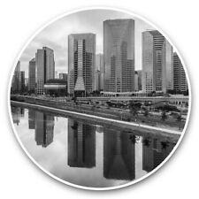 2 x Vinyl Stickers 20cm (bw) - Sao Paulo Brazil City Buildings Beach  #37123