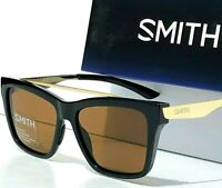 NEW* Smith Optic RUNAROUND Black Gold POLARIZED Bronze Aviator Women's Sunglass