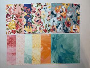 "Stampin' Up! Designerpapier ""Kunstvoll Floral"" 12 Blatt (15,2cm x 15,2 cm)"