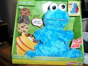 Sesame Street Count ' n Crunch cookie Monster Playskool  -  Hasbro