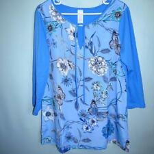 Unbranded Hand-wash Only Floral Plus Size Tops & Blouses for Women