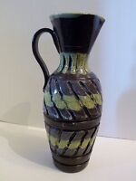 """ALTbx ITALY BITOSSI CARVED MIDCENTURY MODERN RETRO PITCHER 11"""" high"""