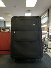Large Black Travel Samsonite Suitcase Luggage Rolling Soft Shell Inside 18x25x10