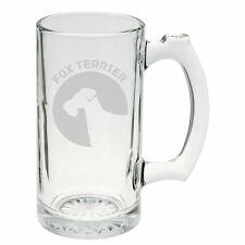 Fox Terrier Dog Breed Pride Hand Etched Mug 25 oz Beer Stein Glass Cup
