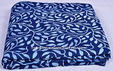 Indian Fabric Indigo Blue Prin 100% Cotton Fabric Yard Hand Block Print fabric