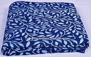 Indien Tissu Indigo Bleu Prin 100% Tissu Coton Yard Main Bloc Tissu Imprimé