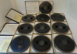 LOT of 10 - SCOTCH/3M 7-inch Reel to Reel Pre Recorded Tapes