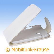Flip Case étui pochette pour téléphone portable sac housse pour samsung gt-i8190/i8190 (Blanc)