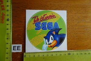Alter Aufkleber Computerspiele SEGA (A)