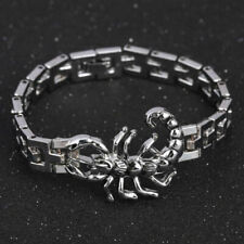 Scorpion Charm Bracelet Stainless Steel Chain Bangles Wristband Punk Jewelry Men