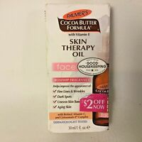 NEW Palmer's Cocoa Butter Formula Skin Therapy Oil for Face 1 oz Rosehip Frag...