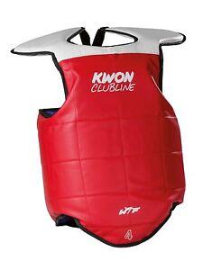 Kampfweste Kwon. WTF rec. Taekwondo,Kampfsport. Gr. XXS-XL. TKD Schutzweste.