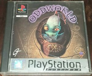 Oddworld Abe's Oddysee - PS1 / PlayStation 1 Platinum Game - Complete w. Manual