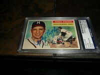 1956 Topps #312 Andy Pafko PSA/DNA Certified Auto Signed Card MILWAUKEE BRAVES