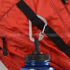 2 Pcs Outdoor Steel Carabiner D-Ring Locking Snap Spring Clip Hook Key Chain