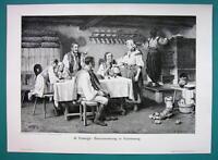ROMANIA Hungarian Courtship in Kalotaszeg Tara Calatei - VICTORIAN Era Print