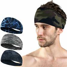Absorbent Sweat Sport Headband Cycling Yoga Sweatband Stretch Turban Men Women