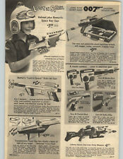 1966 PAPER AD Remco Toy Lost In Space Helmet Ray Gun 007 James Bond Attache