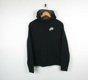 Nike Boys Black Pullover Hoodie Designer Sweatshirt Jumper | XL 13-14 Years