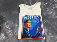 2008 DNC Denver Colorado T-Shirt Mens L Denver Obama Progress
