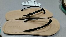 Volcom Lagos Sandals Black straps with Brown soles Womens Size 9 - NWT