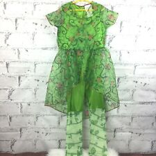 DC Comics Girl's Poison Ivy Dress & Leggings Costume Cosplay Size Medium *READ*
