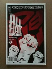 TRANSFORMERS ALL HAIL MEGATRON #8 B TREVOR HUTCHISON COVER VF+ 1ST PRINTING