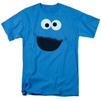 Sesame Street COOKIE MONSTER FACE Licensed Adult T-Shirt All Sizes
