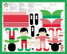 "35"" Fabric Panel - Moda The North Pole Stuffed Elf Project"