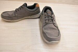 Skechers Relaxed Fit Elent Mosen 65493 Boat Shoe, Men's Size 10.5M, Gray