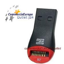MICRO SD SDHC M2 HC CARD READER LETTORE MINI ADATTATORE USB 2.0 PER MICROSD TF