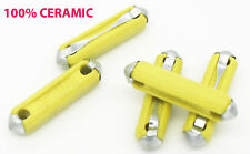 "Ceramic Fuse, 5 Amp, German Made, ""Yellow"", Porsche 356, 911, 912, 914, 944"