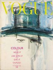 Gladys Perint Parlmer WINSTON CHURCHILL British Vogue magazine November 1962 VTG