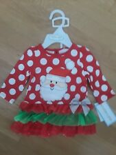 Christmas Baby Girl Infant Dress Santa Claus Diaper Cover 2 Pcs Set 3-6 Months