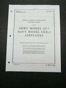 1944 AAF Beech AT-7 USN SNB-2 Navigator Aircraft Pilot's Flight Operating Manual