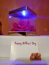 Mothers day Rose in box LED Light Gift For Mom  Girlfriend.Wife. Woman. Girls