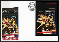 MOZAMBIQUE 2016 HONORING  MUHAMMAD ALI  SOUVENIR SHEET FIRST DAY COVER