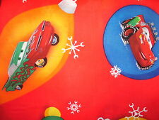 Disney Cars - Lightning McQueen, Mater Christmas Fabric - Sold by the Yard