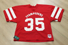 RARE Vintage Calgary Stampeders #35 Saxon Athletic CFL Football Jersey Starter