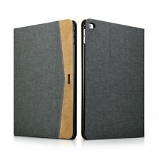Folio Case IPAD Air 2 in Fabric and Leather Series Scholarship Black