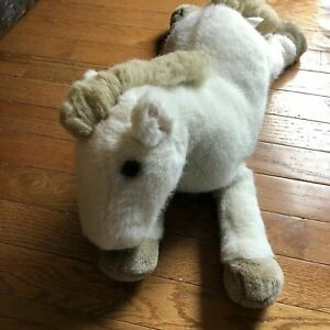 "Dakin Savannah Horse Pony soft & cuddly plush 18"" cream"