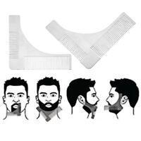 Edelstahl Mann Bart Formwerkzeug Bartschablonen Bart Kamm Schablone für Mann