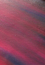 ACEO ORIGINAL PAINTING by Studio Angela Purple/Burgandy Abstract #3